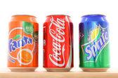 Coca Cola, Fanta, Sprite — Stock Photo