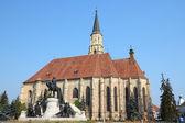 Cluj-Napoca, town in Transylvania region of Romania. Second biggest Romanian city. St. Michael's gothic church. — Stock Photo