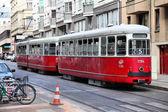 Vídeňská tramvajová — Stock fotografie