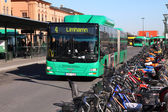 Man bus in Malmo — Stock Photo