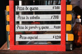 Pizza menu — Foto de Stock
