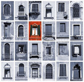 Venetië windows — Stockfoto