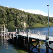 Stock Photo: Lake pier in New Zealand