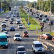 Stock Photo: Warsaw traffic congestion