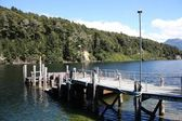 Lake pier in New Zealand — Stock Photo