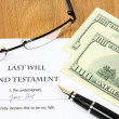 Last Will — Stock Photo