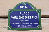 Paris - Marlene Dietrich square — Stock Photo