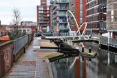 Birmingham water canals — Stock Photo