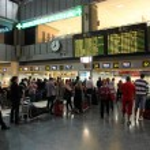 Airport concourse — Stock Photo
