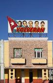 Political propaganda in Cuba — Stock Photo