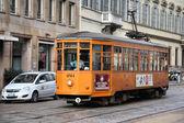 Milan tram — Stock Photo