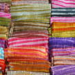 Colorful textiles — Stock Photo