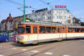City tram in Poznan — Stock Photo