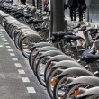 Bicycle sharing in Paris — Stock Photo