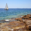 Sea sailing in Croatia — Stock Photo