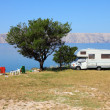 Foto Stock: Adriatic Sea camping