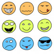 Smileys — Stock Vector
