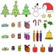 Stock Vector: Christmas items