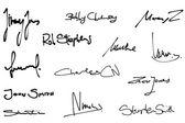 Signature set — Stock Vector