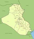 Map of Iraq — Stock Vector