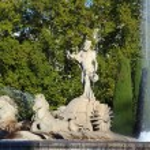 Neptune fountain in Madrid — Stock Photo #30150555