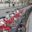 Stock Photo: Barcelona city bikes