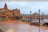 Seville in rain — Stock Photo