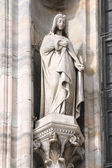 Milan cathedral sculpture — Stock Photo