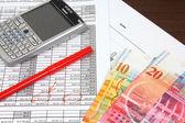 Swiss franc business — Stock Photo