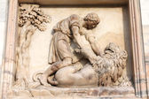 Samson killing the lion — Stock Photo