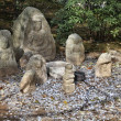 Jizo statues in Kyoto — Stock Photo