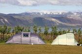 Terrain de camping en islande — Photo