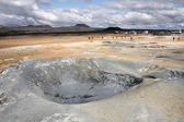 Iceland - mud pool — Stock Photo