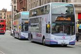 Manchester buses — Stock Photo