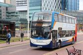Manchester bus — Stock Photo