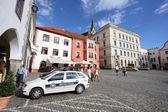 Polícia checa - skoda fabia — Fotografia Stock