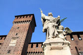 Milan zamek — Zdjęcie stockowe