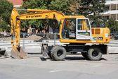 Hyundai excavator — Stock Photo
