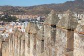 Malaga in Andalusia, Spain. Alcazaba castle walls on Gibralfaro mountain. — Stock Photo