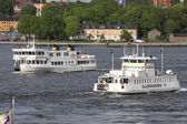 Stockholm ferries — Stock Photo