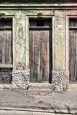 Old door, Santiago de Cuba — Stock Photo