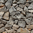 Basalt rock wall — Foto Stock