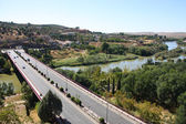 Spain - Tagus river bridge — ストック写真