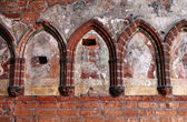 Malbork castle detail — Stock Photo