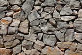 Basalt rock wall — Stock Photo