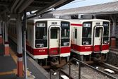 Tobu Railway train, Japan — Stock Photo