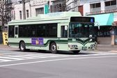 Hybrid bus in Kyoto — Stock Photo