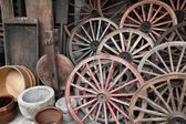 Rustic decorative objects — Stock Photo