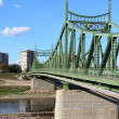 River Mures suspension bridge — Stock Photo
