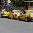 Stock Photo: Taxi cabs in Sofia